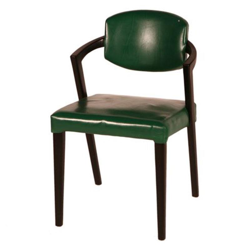 Καρέκλα ξύλινη με δέρμα