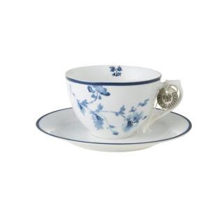 Laura Ashley-Blueprint Φλυτζάνι cappuccino με πιατάκι china rose