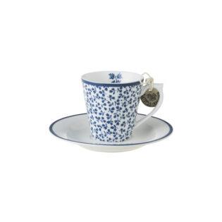 Laura Ashley-Blueprint Espresso Φλιτζανάκι με πιατάκι Floris
