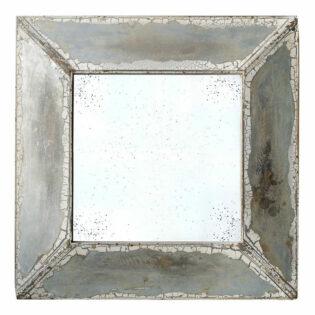 Καθρέπτης τοίχου τετράγωνος κρακελέ