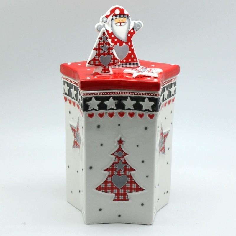 Χριστουγεννιάτικο διακοσμητικό δοχείο με Αη-Βασίλη
