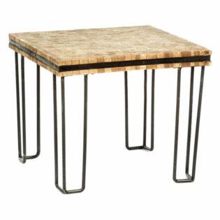 Τραπέζι σαλονιού από ξύλινους κορμούς