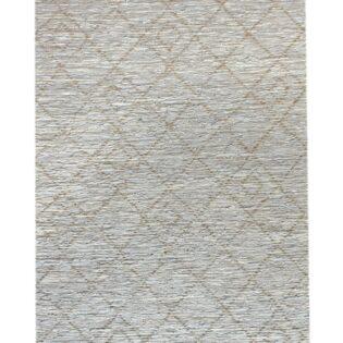 Χαλί δερμάτινο BARGO 120x180 χρώμα Natural/Ivory