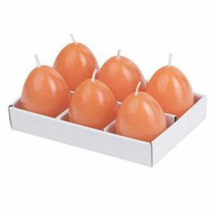 Κεριά σε σχήμα αυγό πορτοκαλί Σετ/6