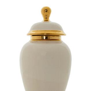 Βάζο κεραμικό με καπάκι 17.5x34cm