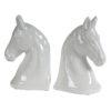 """Βιβλιοστάτες κεραμικοί """"Horse head"""" Σετ/2"""