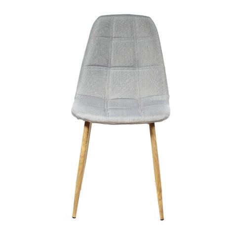 Καρέκλα τραπεζαρίας με ανοιχτό ανοιχτό καφέ ύφασμα 45x53x87