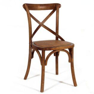 Καρέκλα ξύλινη Χ πλάτη κάθισμα RATAN CW006