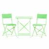 Τραπέζι αναδιπλούμενο πράσινο μεταλλικό