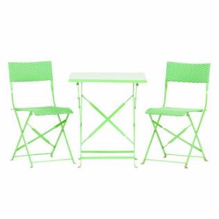 Καρέκλα αναδιπλούμενη πράσινη μεταλλική