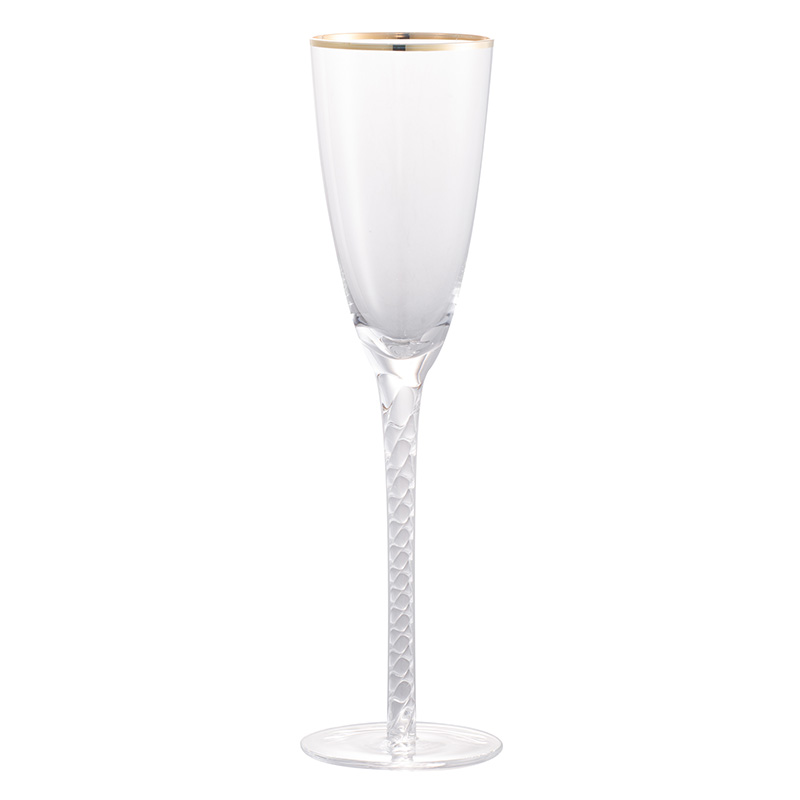 """Ποτήρι σαμπάνιας """"Felicity"""" με χρυσή ρίγα"""