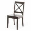 Καρέκλα φαγητού σκούρο καφέ