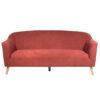 Καναπές τριθέσιος με κόκκινο ύφασμα