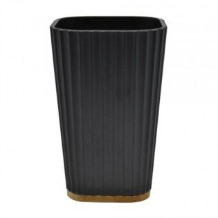 Ποτηροθήκη μαύρη 7.5x7.5x11.5cm