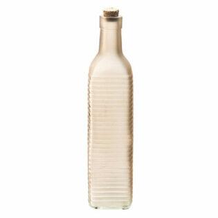 Μπουκάλι γυάλινο με κίτρινες ρίγες 6Χ6Χ26