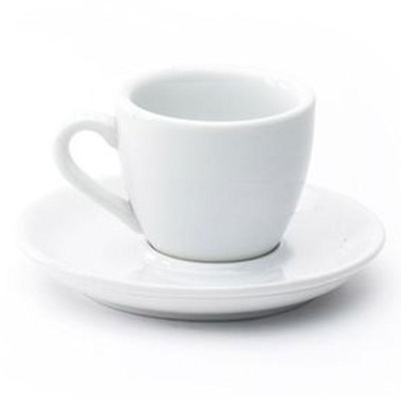 Φλυτζάνι καφέ με πιατάκι λευκό