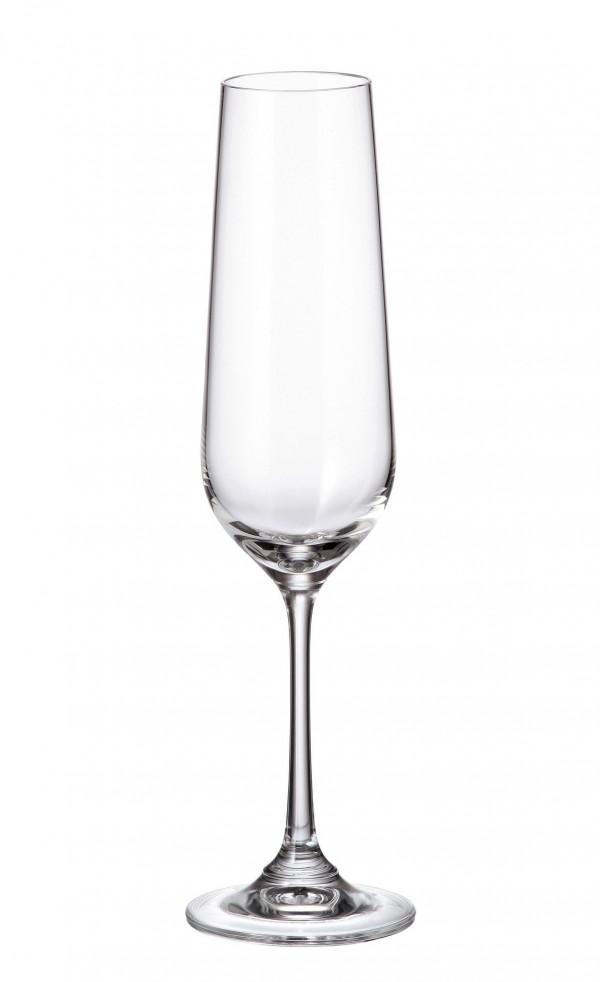 Σετ 6 ποτήρια σαμπάνιας με πόδι 200ml