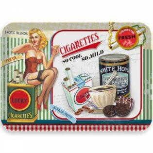 Δίσκος μελαμίνης Lucky cigaretts 21,5x14,5x2cm
