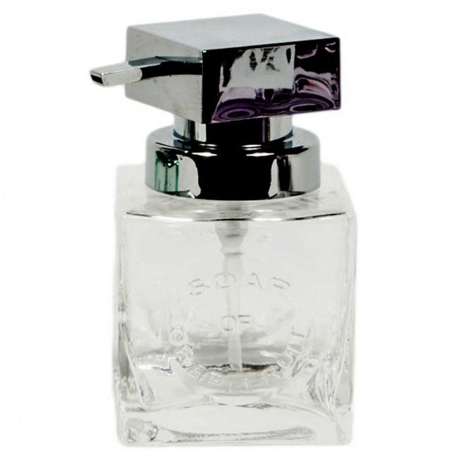 Dispenser γυάλινο τετράγωνο 8.5×8.5x14cm
