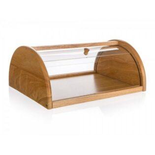 Ψωμιέρα ξύλινη/plexiglass 36x27x15